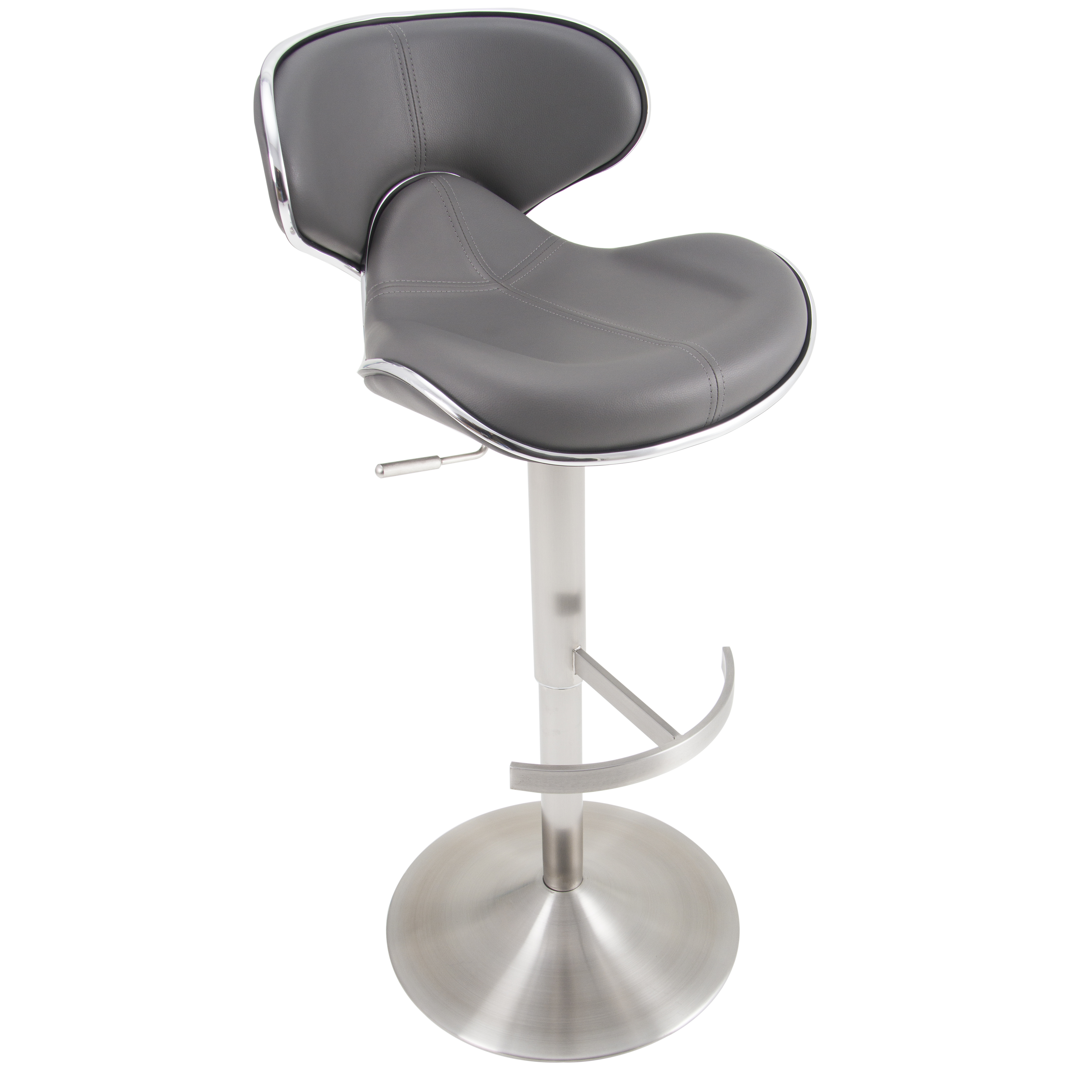 Ecco Brushed Stainless Steel Adjustable Height Swivel