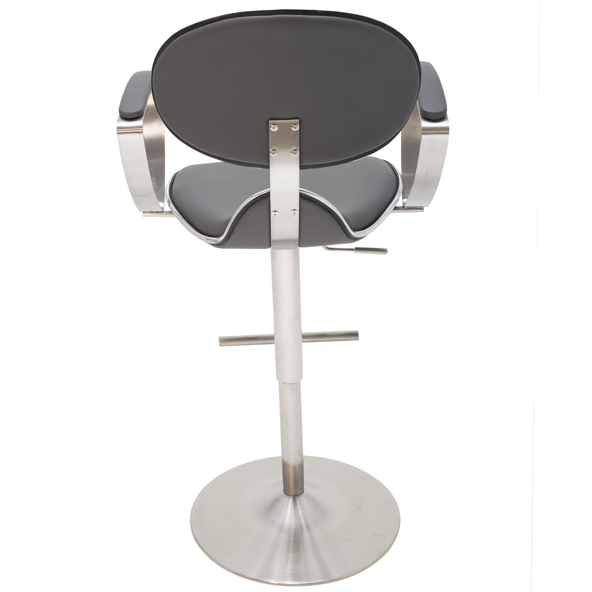 Jaylo Brushed Stainless Steel Adjustable Height Swivel