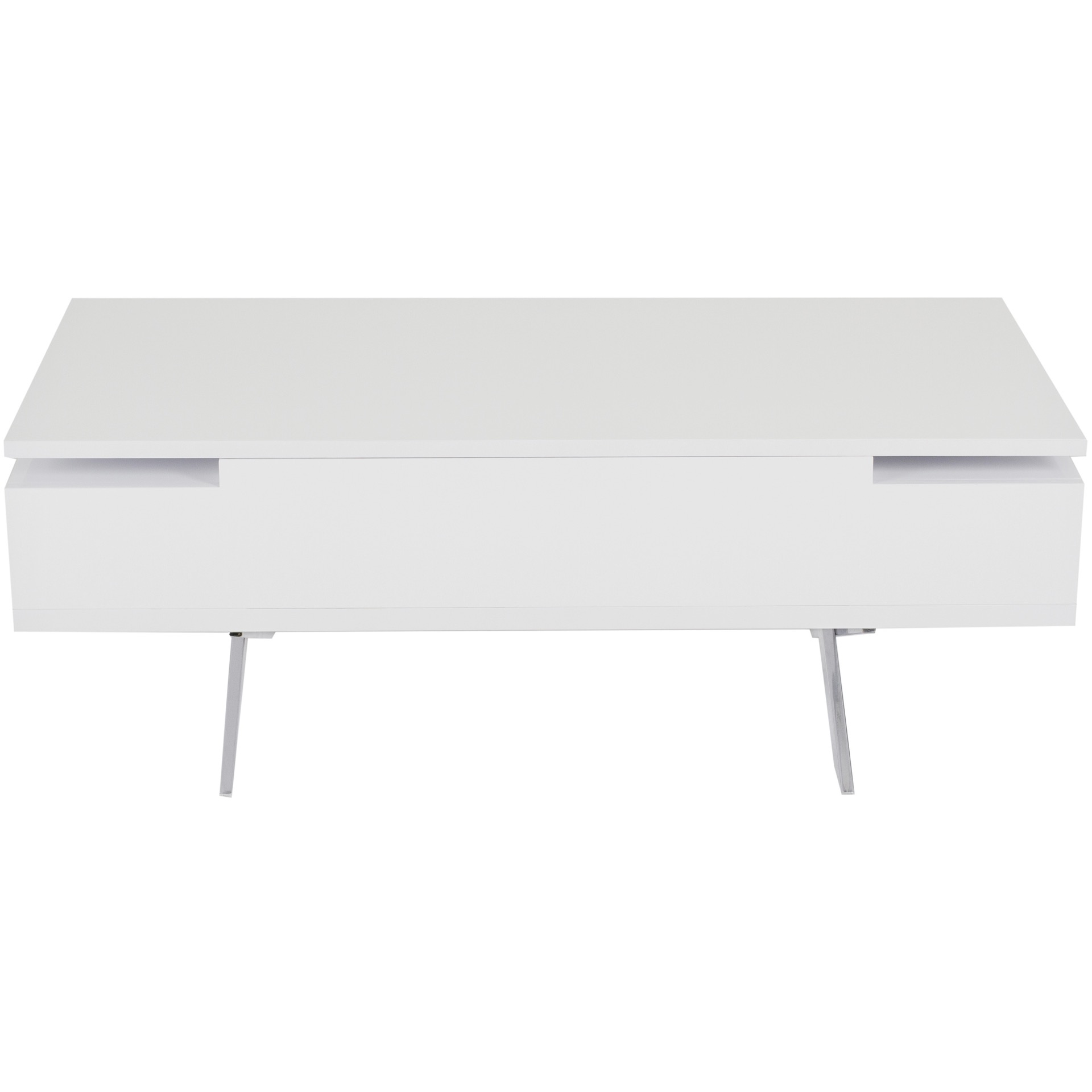 Stelar White Lacquer High Gloss Lift Top Rectangular Coffee Table Mix