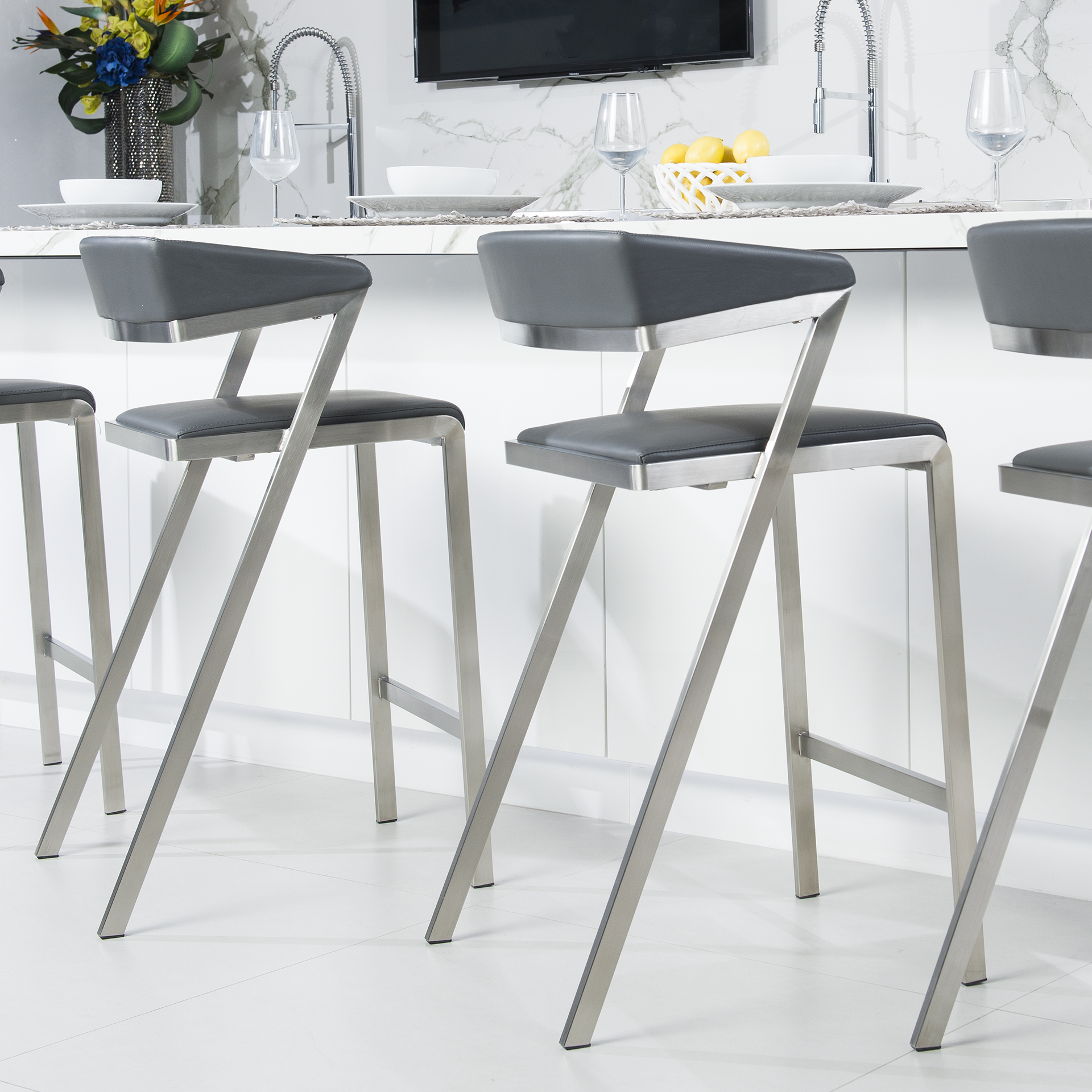 gray burnished stool seating for at dsc sale l brass id furniture milo century baughman stools in grey leather f bar