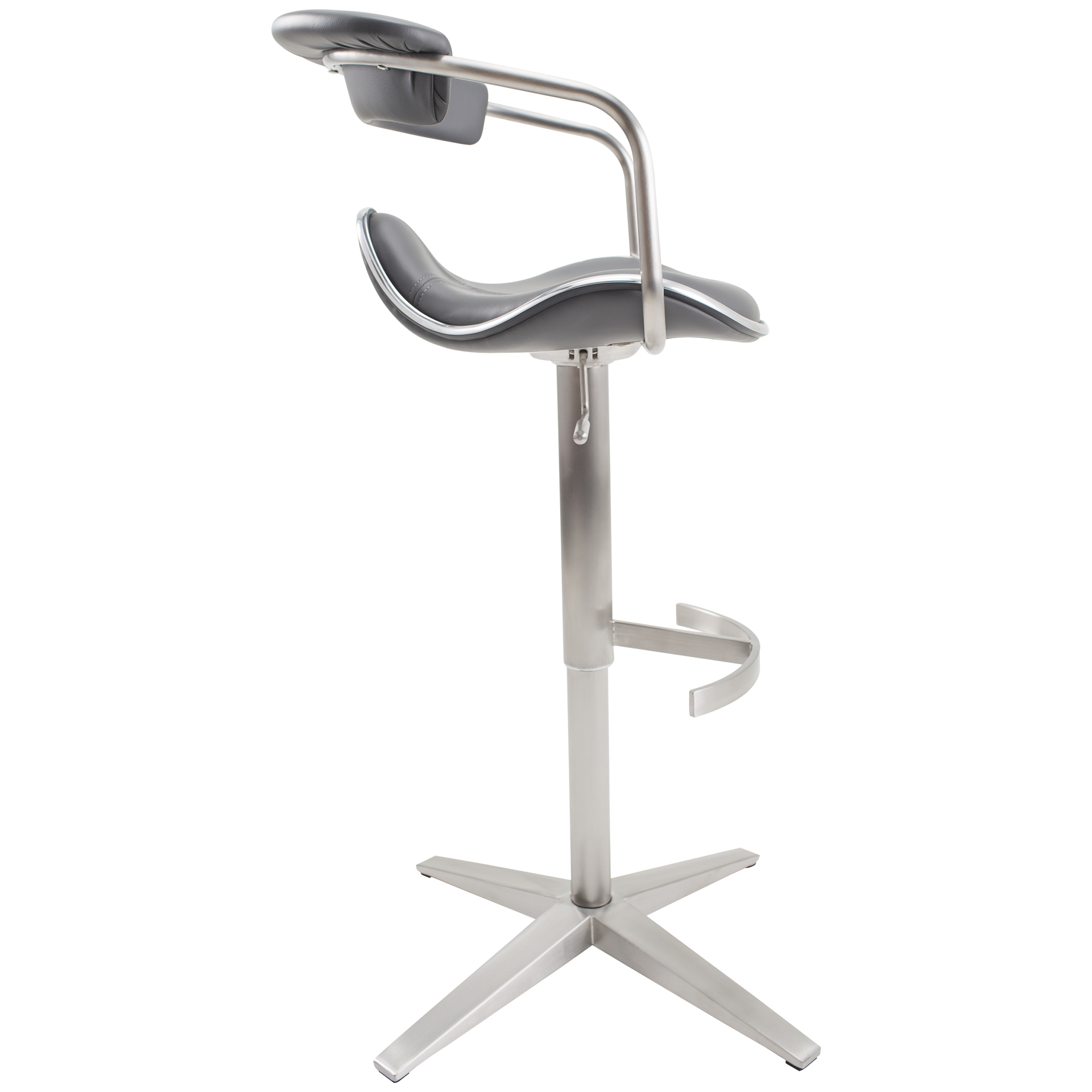 Primo Brushed Stainless Steel Adjustable Height Swivel